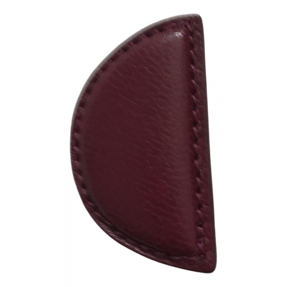Acne Studios - Boucles doreilles   pour femme en cuir - bordeaux