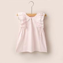 Baby Girl Ruffle Trim Solid Dress