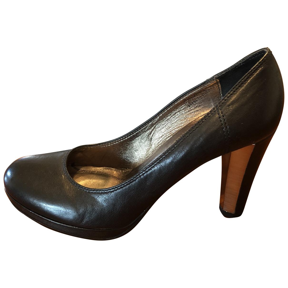 Boss Orange \N Black Leather Heels for Women 39.5 EU
