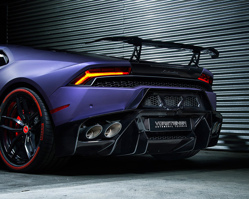 Vorsteiner 0930LOV Novara Edizione Carbon Fiber Aero Wing Blade with Aluminum Uprights Lamborghini Huracan 15-19