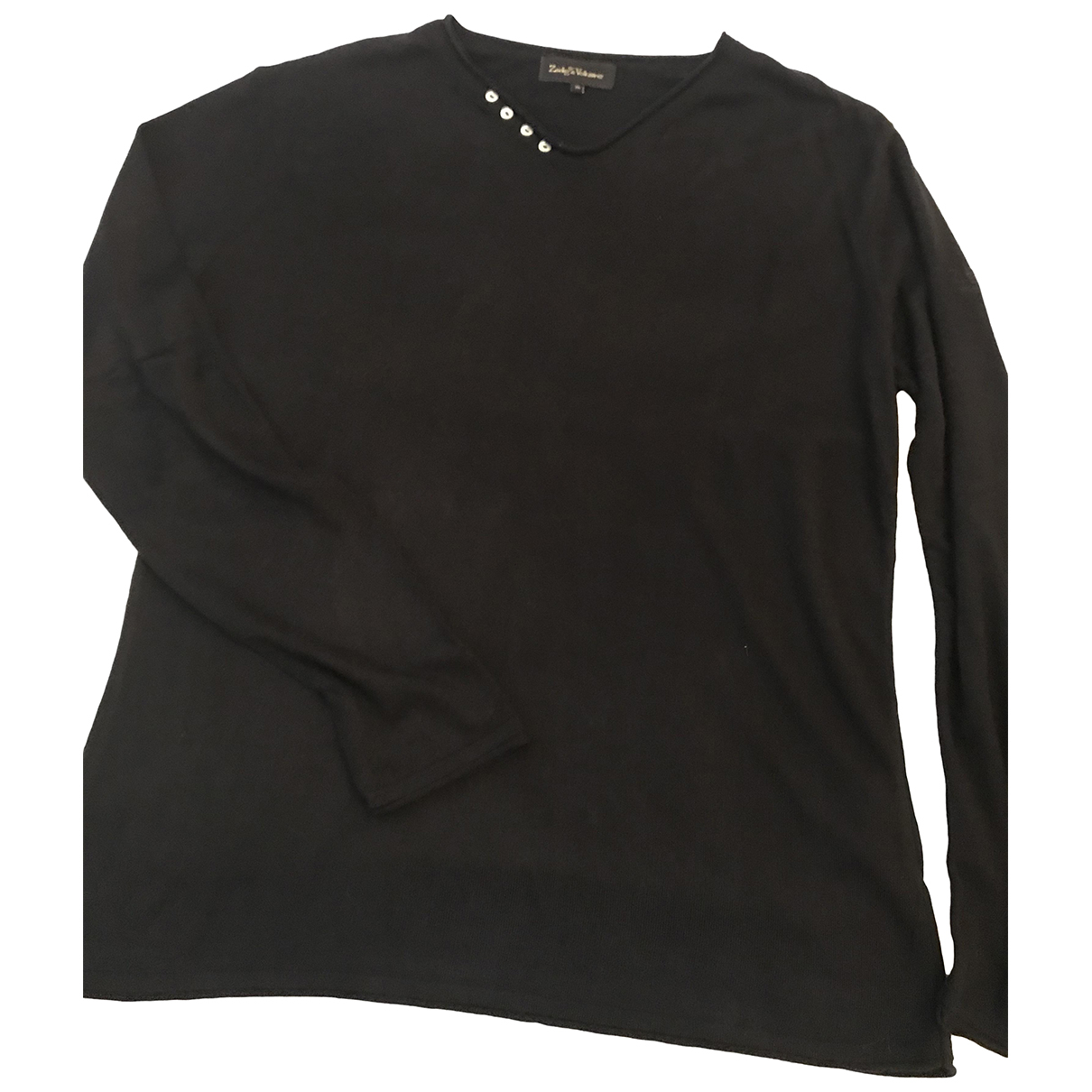Zadig & Voltaire \N Pullover.Westen.Sweatshirts  in  Schwarz Viskose