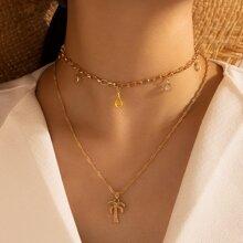 Halskette mit Baum Dekor