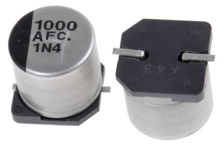 Panasonic 1000μF Electrolytic Capacitor 10V dc, Surface Mount - EEEFC1A102AP (10)