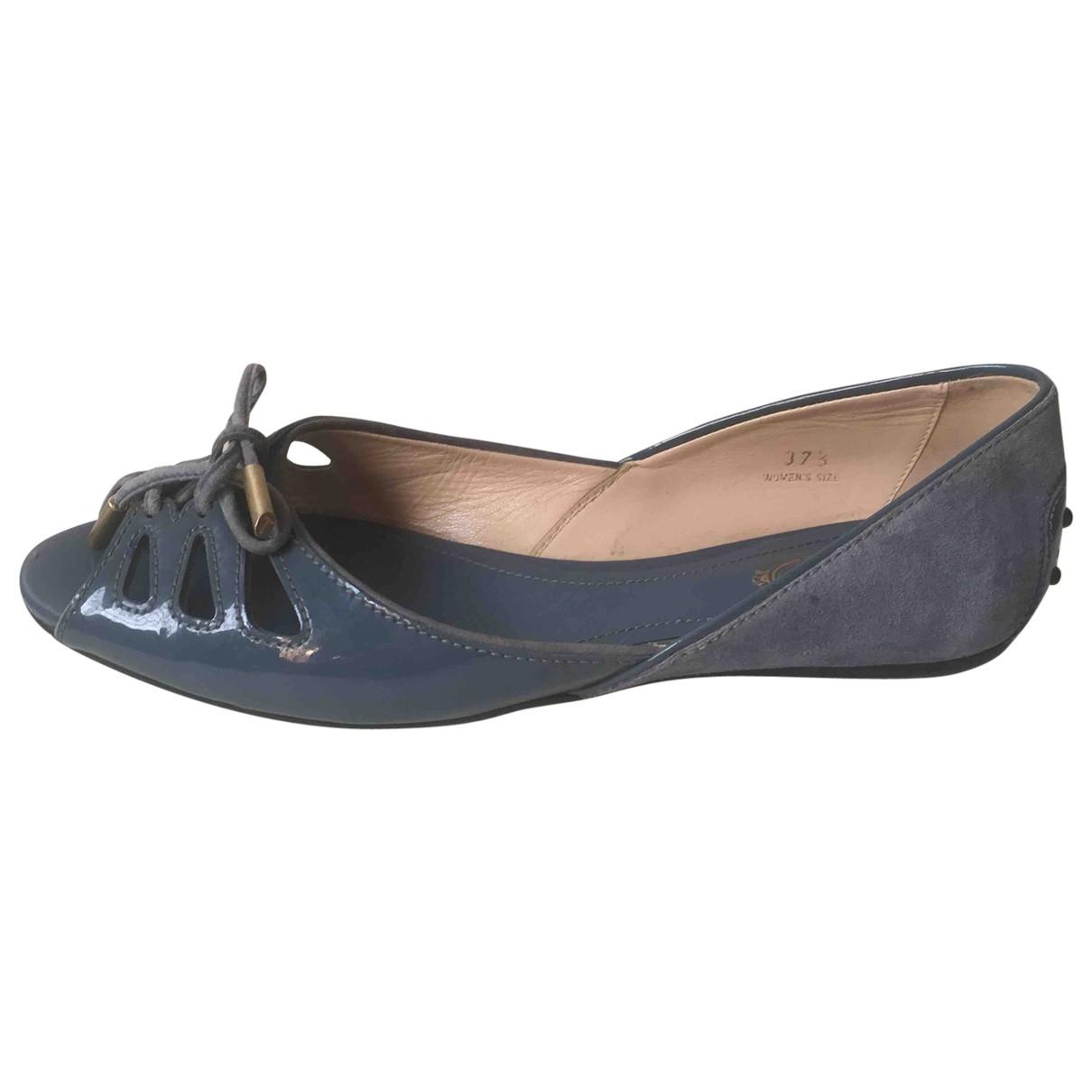 Tod's \N Ballerinas in  Blau Leder