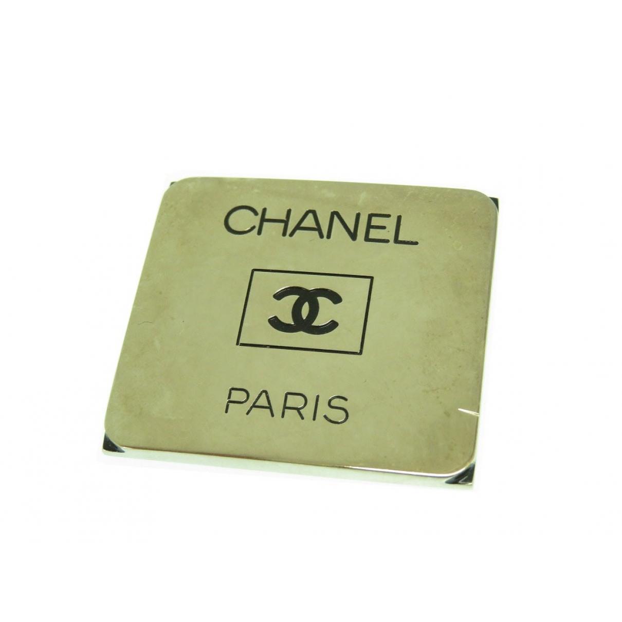 Chanel - Broche   pour femme en acier - argente