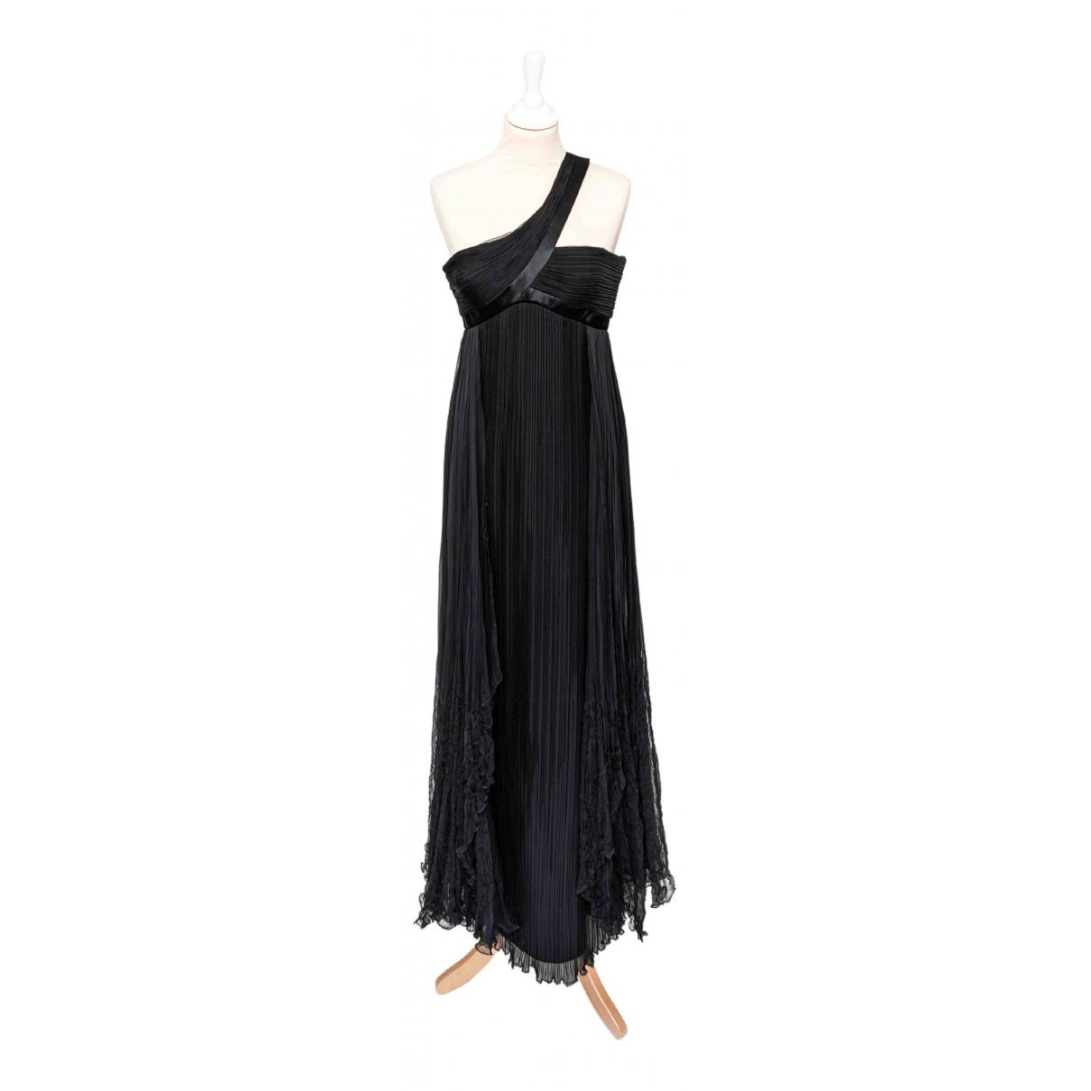 Versace - Robe   pour femme en soie - noir