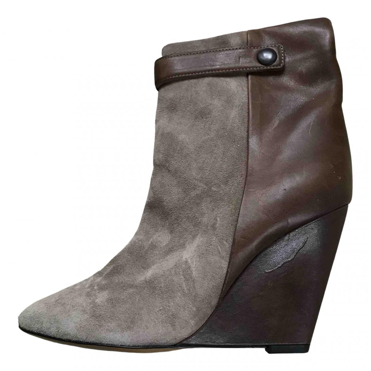 Isabel Marant - Boots   pour femme en suede - marron