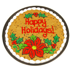 Holiday Cookie Cake | Chocolate Chip Cookie Cake
