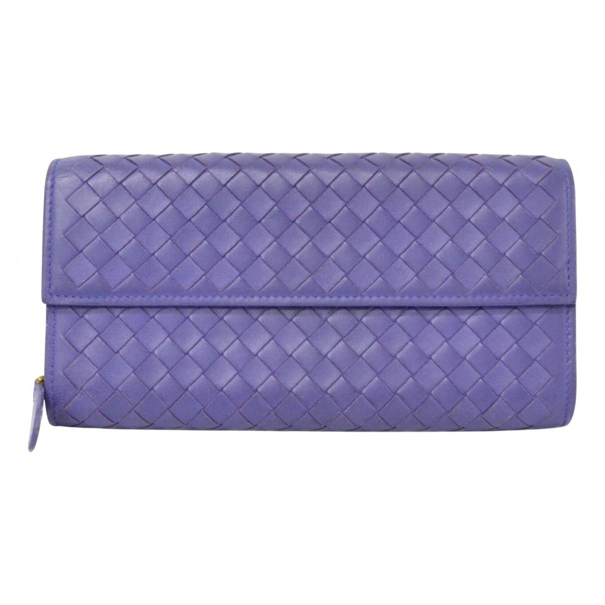 Bottega Veneta N Purple Leather wallet for Women N