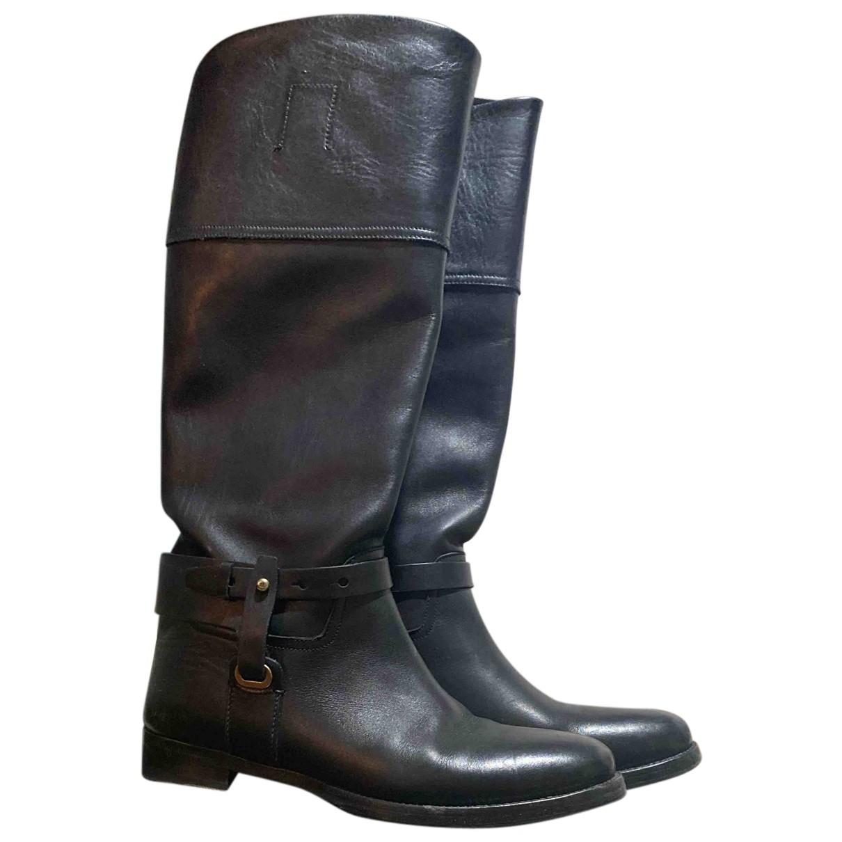 Ralph Lauren \N Stiefel in  Schwarz Leder