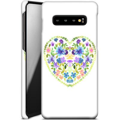 Samsung Galaxy S10 Plus Smartphone Huelle - Love Folk Olive Green von Amy Sia