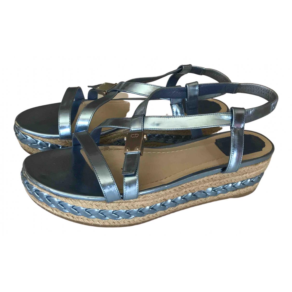 Dior \N Sandalen in  Blau Leder