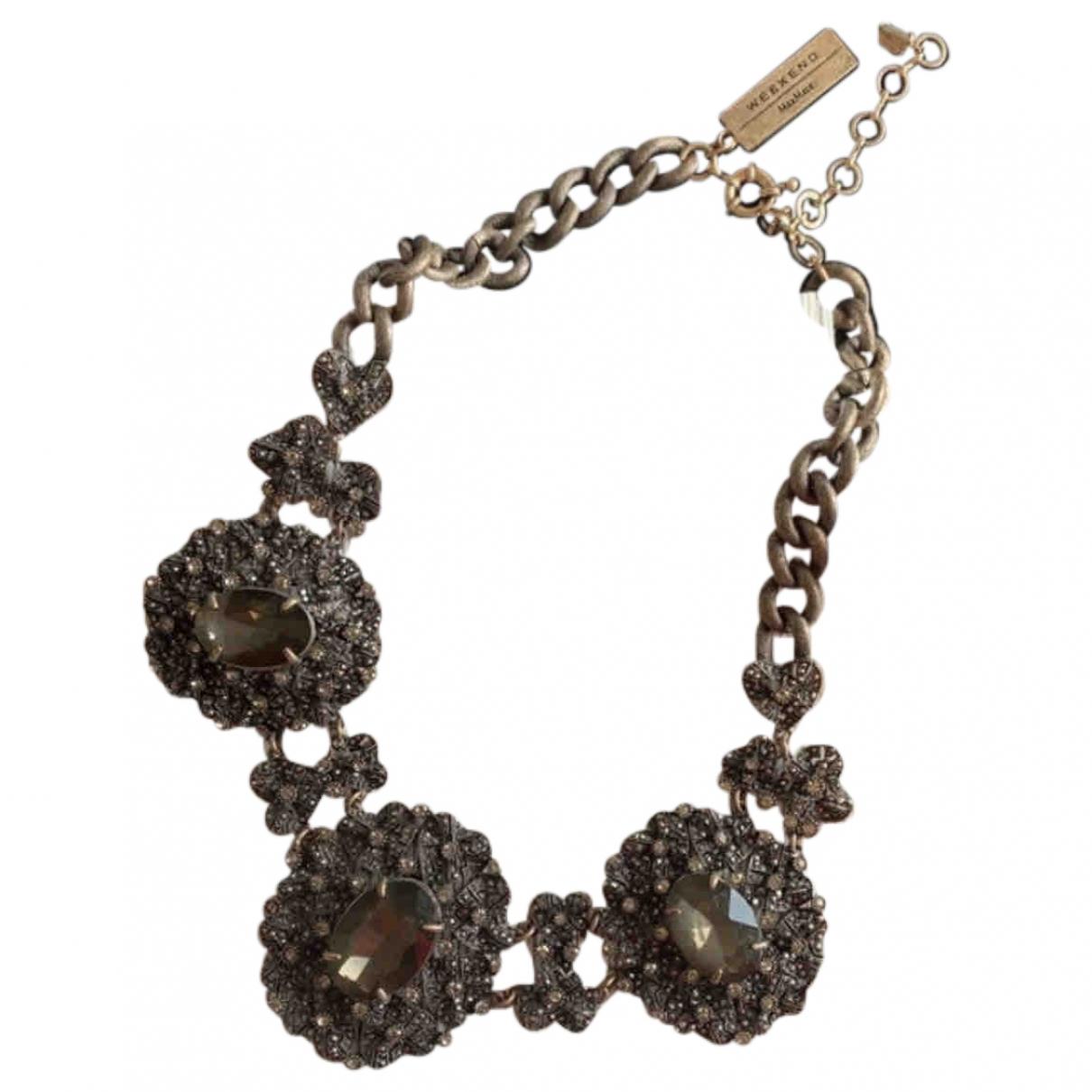 Max Mara Weekend \N Beige Steel necklace for Women \N