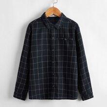 Boys Long Sleeve Grid Shirt