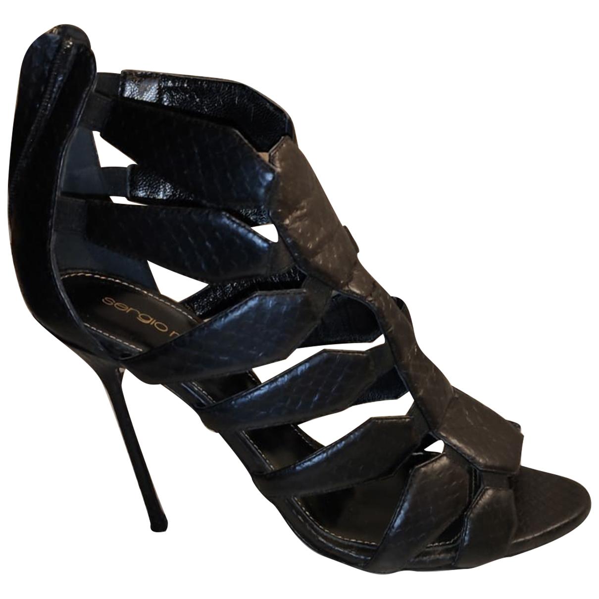 Giuseppe Zanotti - Sandales   pour femme en cuir - noir
