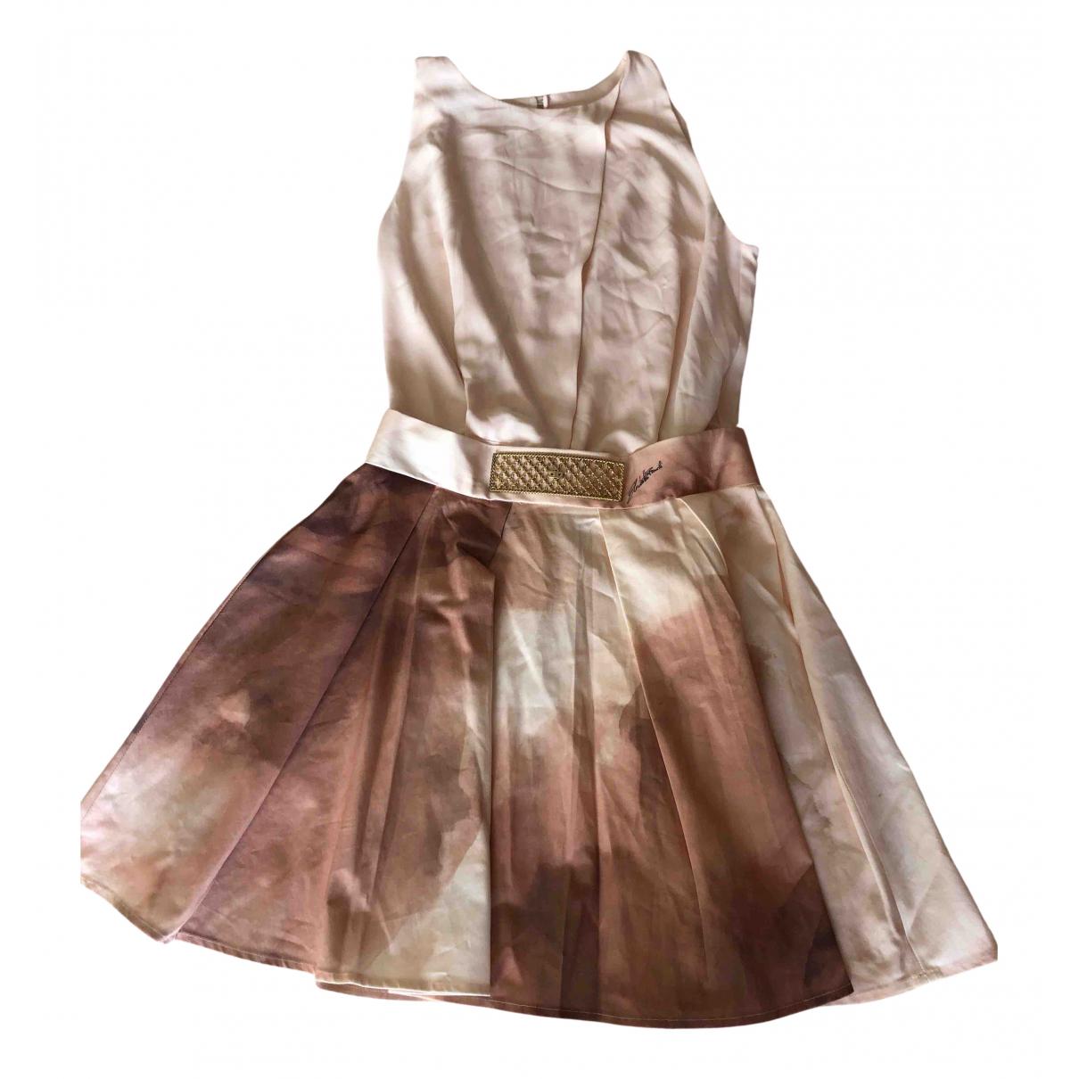 Elisabetta Franchi \N Kleid in  Rosa Baumwolle - Elasthan