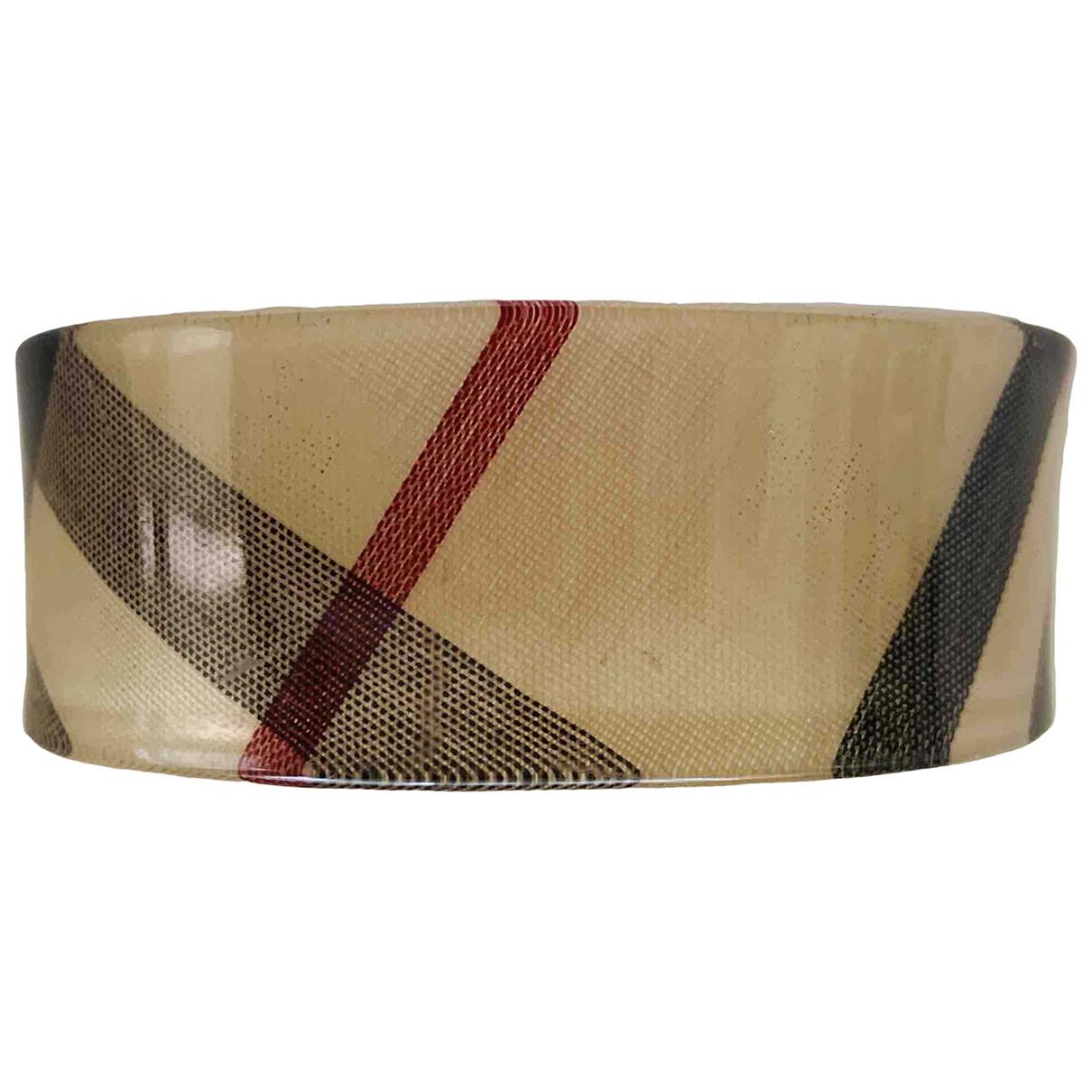 Burberry \N Armband in  Beige Kunststoff