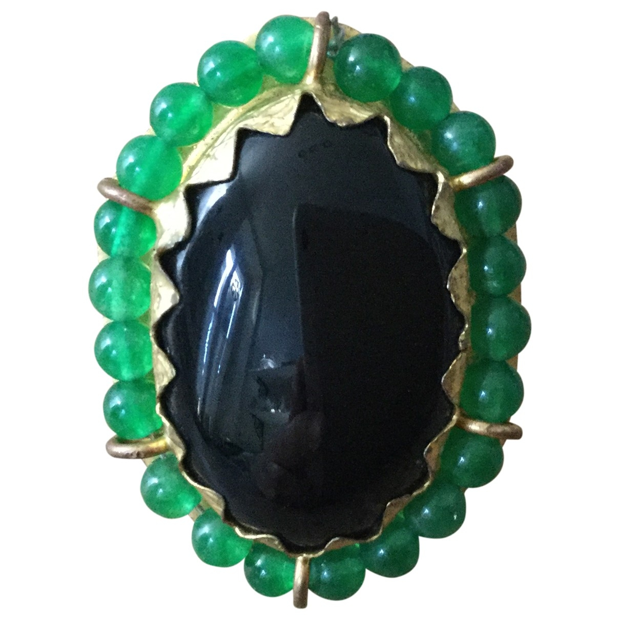 Non Signé / Unsigned Motifs Ethniques Multicolour Metal ring for Women \N