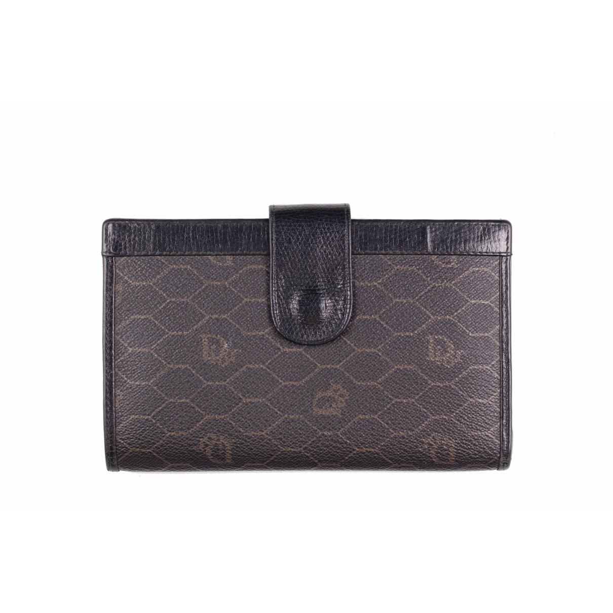Dior - Portefeuille   pour femme en toile - noir