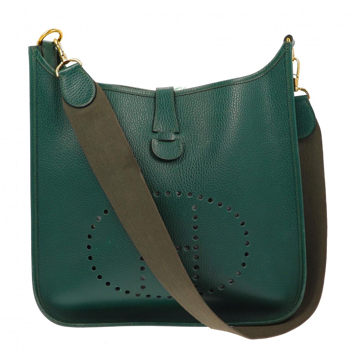 Hermès \N Green Leather handbag for Women \N
