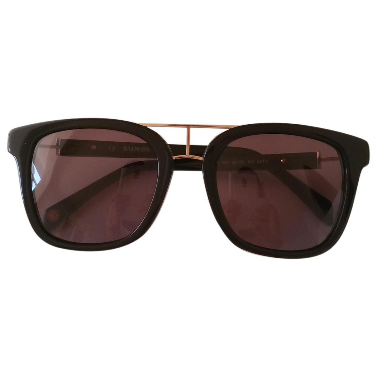 Balmain \N Sonnenbrillen in  Schwarz Kunststoff