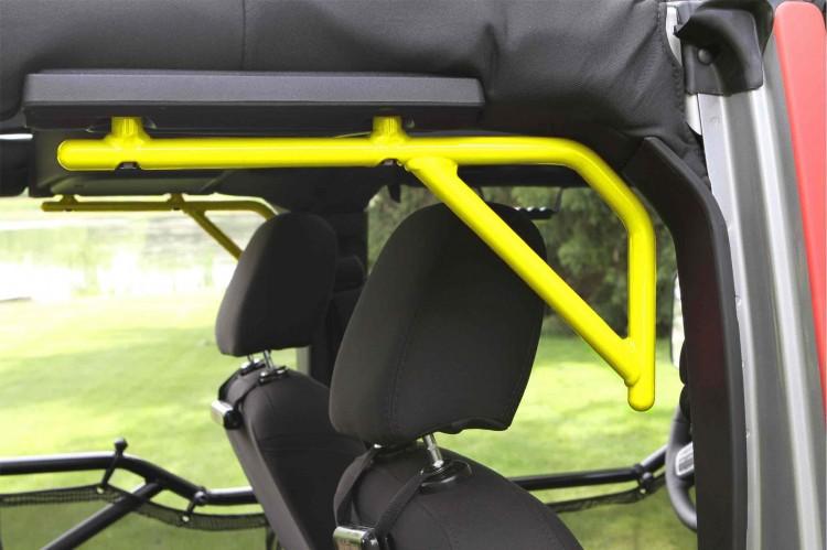 Steinjager J0046506 Grab Handle Kit Wrangler JK 2007-2018 Rigid Design Rear for 4 Door JKU Neon Yellow