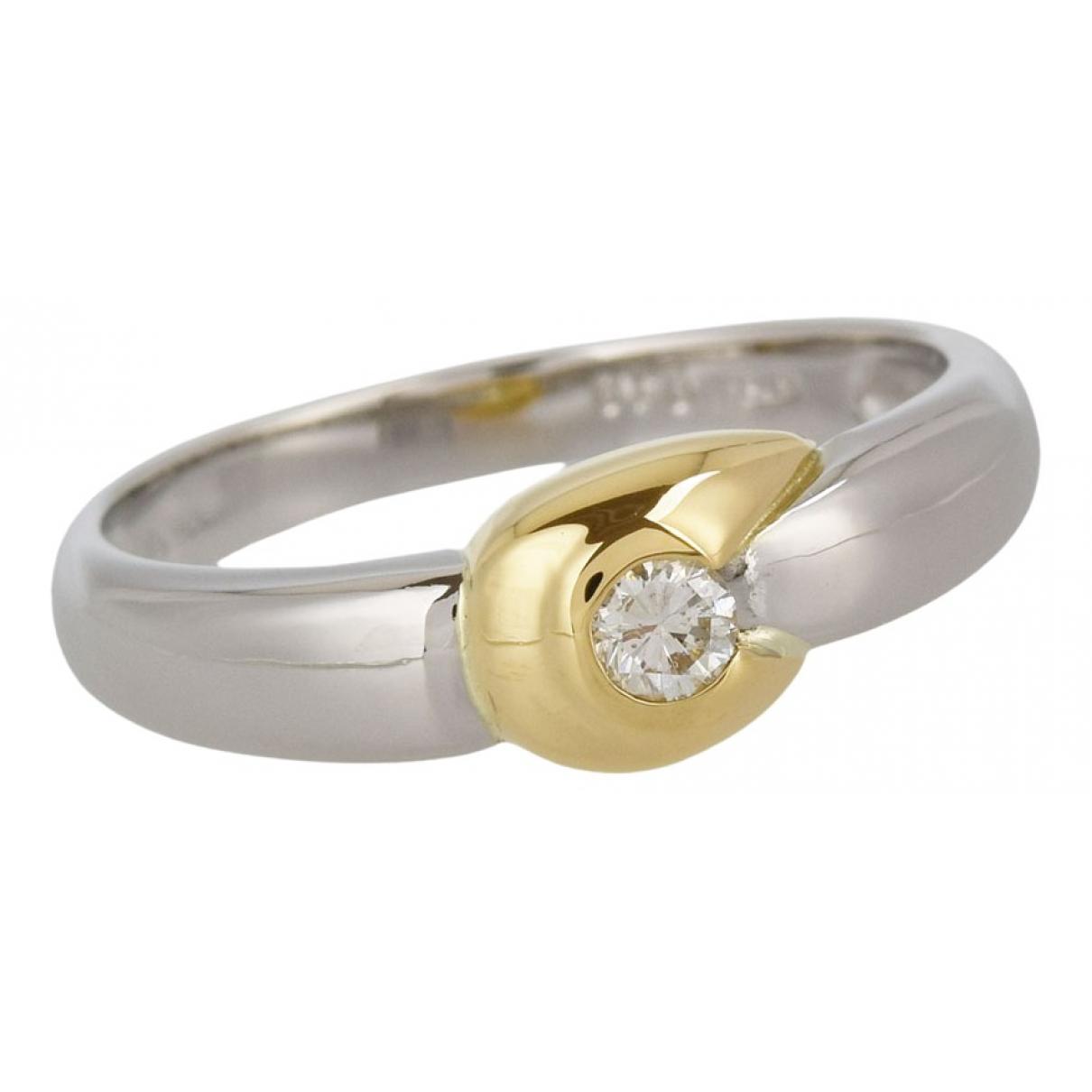 Non Signé / Unsigned N Metallic Platinum ring for Women 53 EU