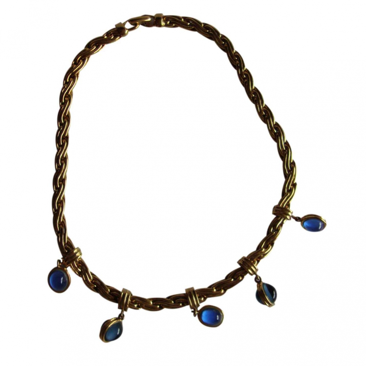 Non Signé / Unsigned \N Blue Metal necklace for Women \N