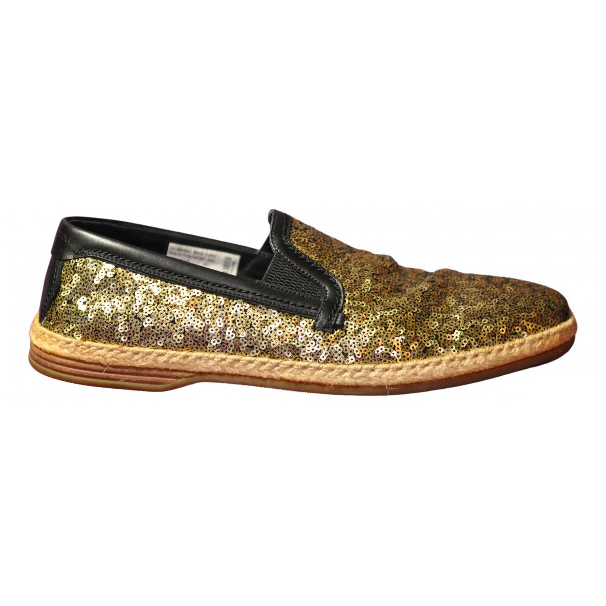 Dolce & Gabbana \N Sneakers in  Gold Mit Pailletten