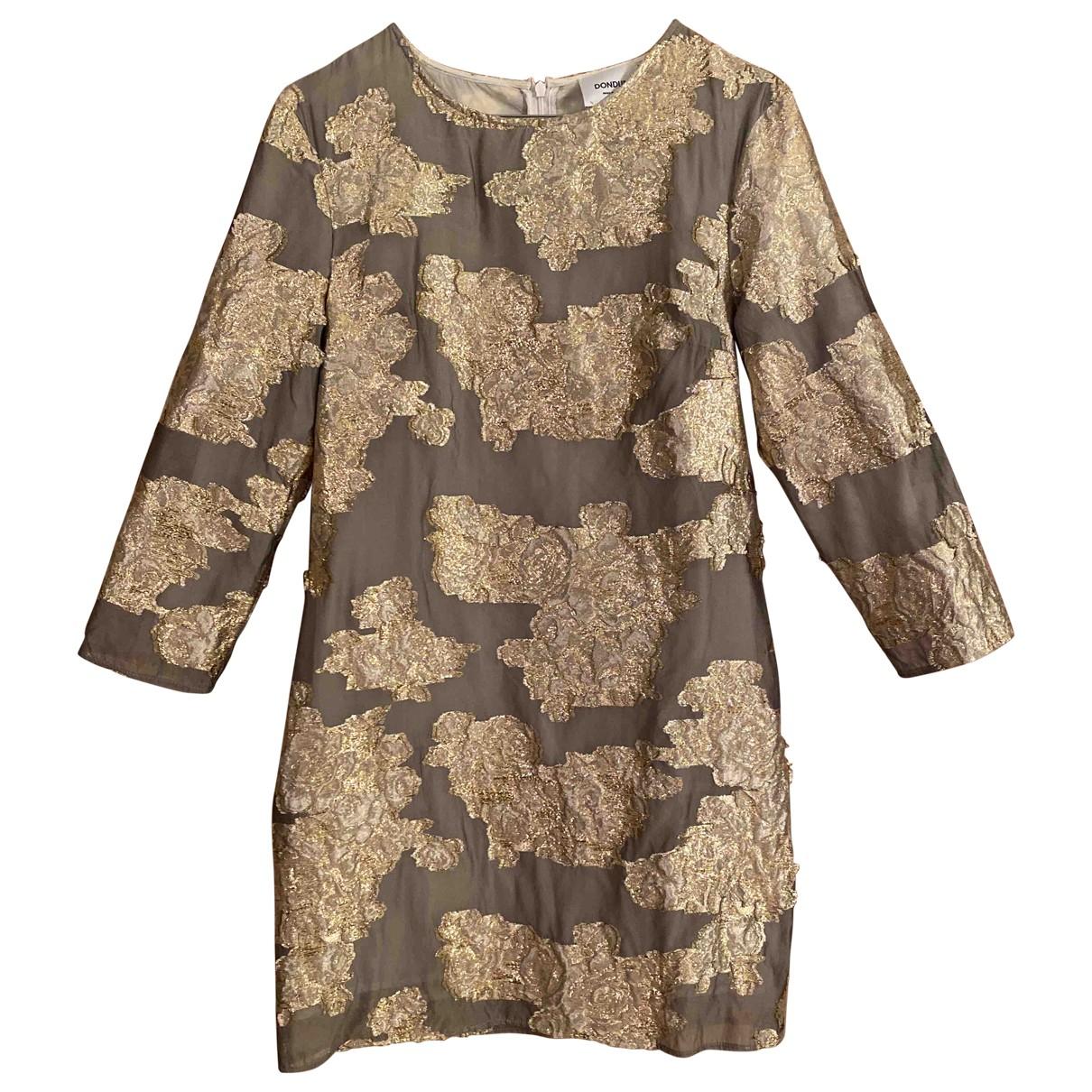 Dondup \N Kleid in  Gold Seide