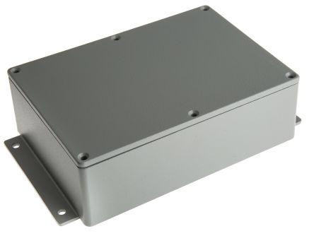 RS PRO Grey Die Cast Aluminium Enclosure, IP66, Shielded, Flanged, 202 x 120.8 x 54.9mm