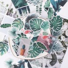 Aufkleber mit tropischem Blatt Muster 60 Stuecke