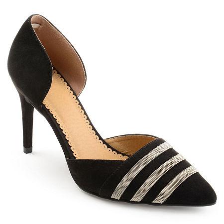 Journee Collection Womens Felicia Pumps Stiletto Heel, 9 Medium, Black