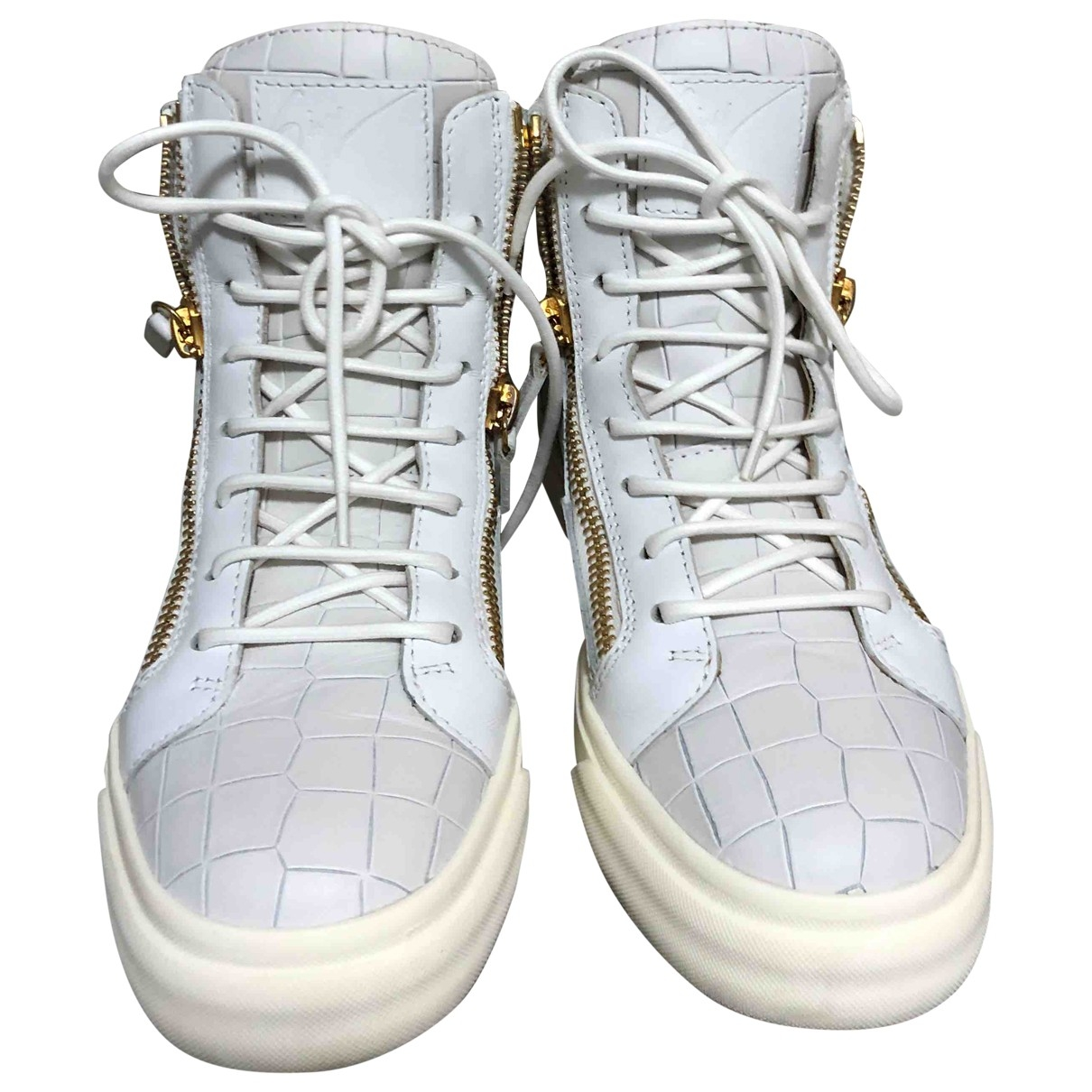 Giuseppe Zanotti - Baskets Nicki pour femme en cuir - blanc