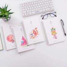 1pc Random Fruit Print Notebook