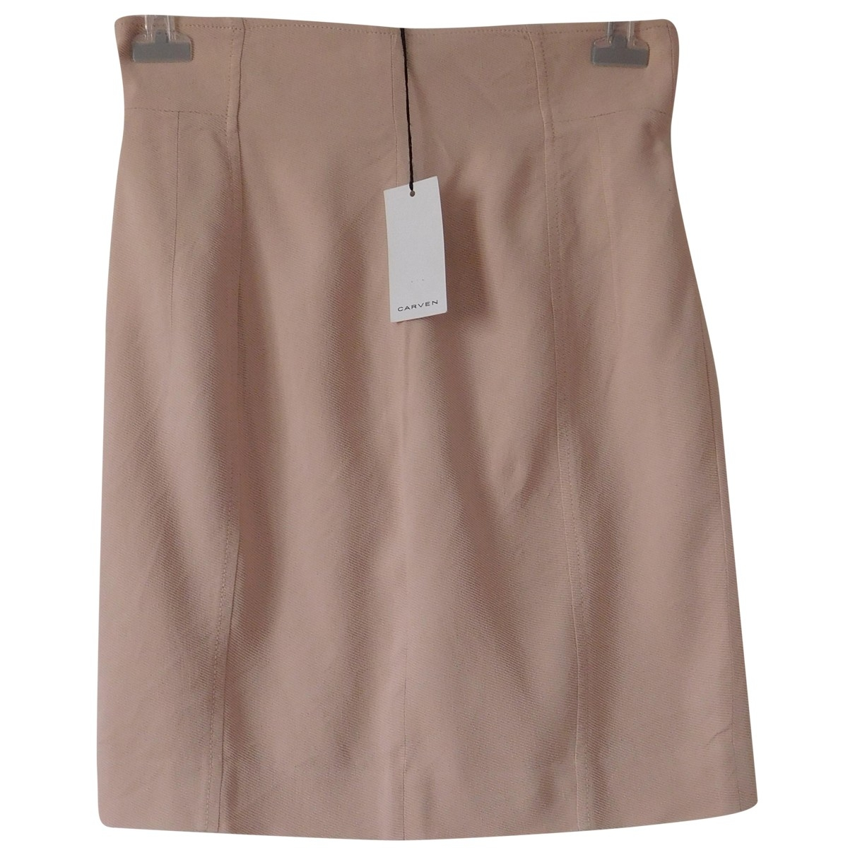 Carven \N Pink Linen skirt for Women 40 FR