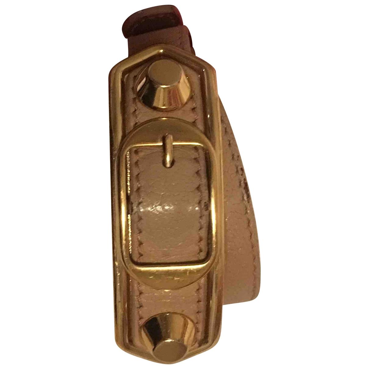 Balenciaga \N Beige Leather bracelet for Women \N