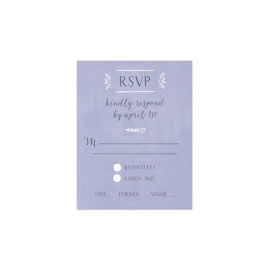 Gartner Studios® Personalized Casual Border Flat Wedding RSVP | Michaels®