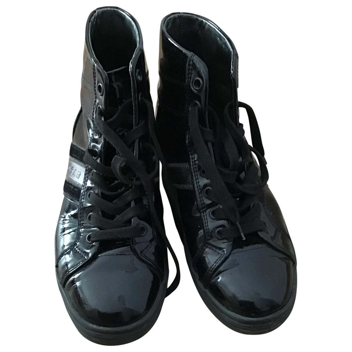 Hogan - Boots   pour femme en cuir verni - noir
