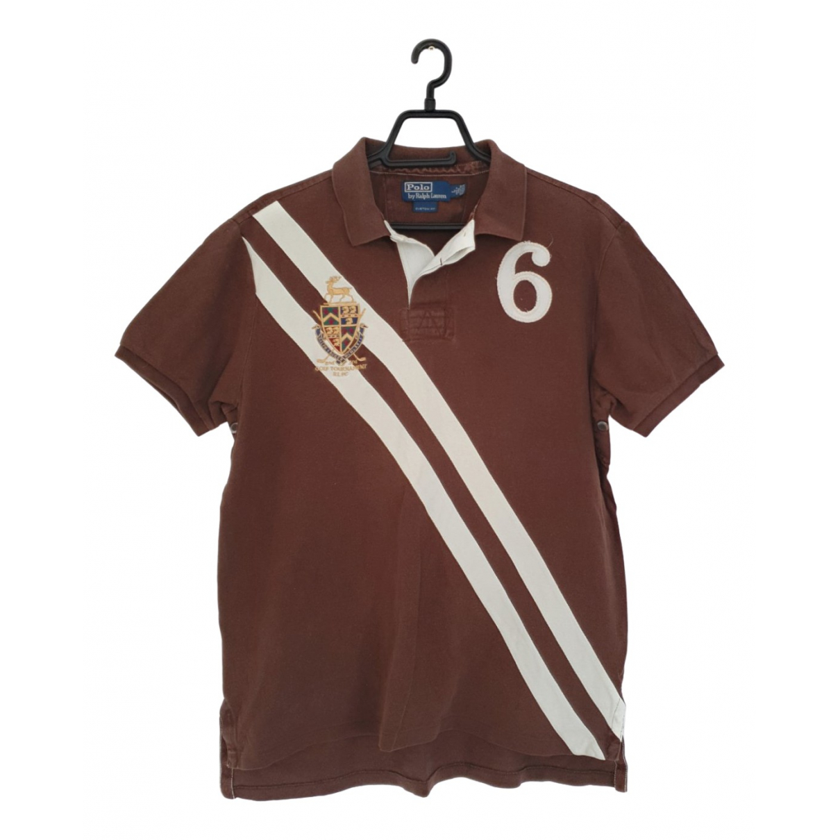 Polo Ralph Lauren Polo Rugby manches courtes Poloshirts in  Braun Baumwolle