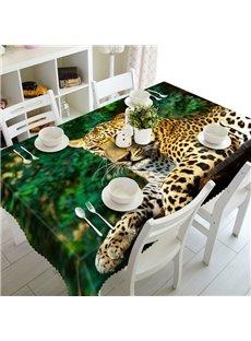 Lifelike Design Leopard Pattern Washable Home Decoration 3D Tablecloth