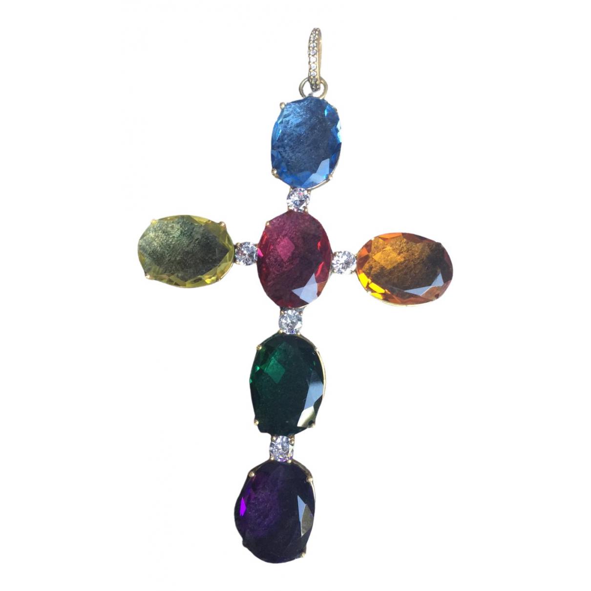 - Pendentif Croix pour femme en argent - multicolore