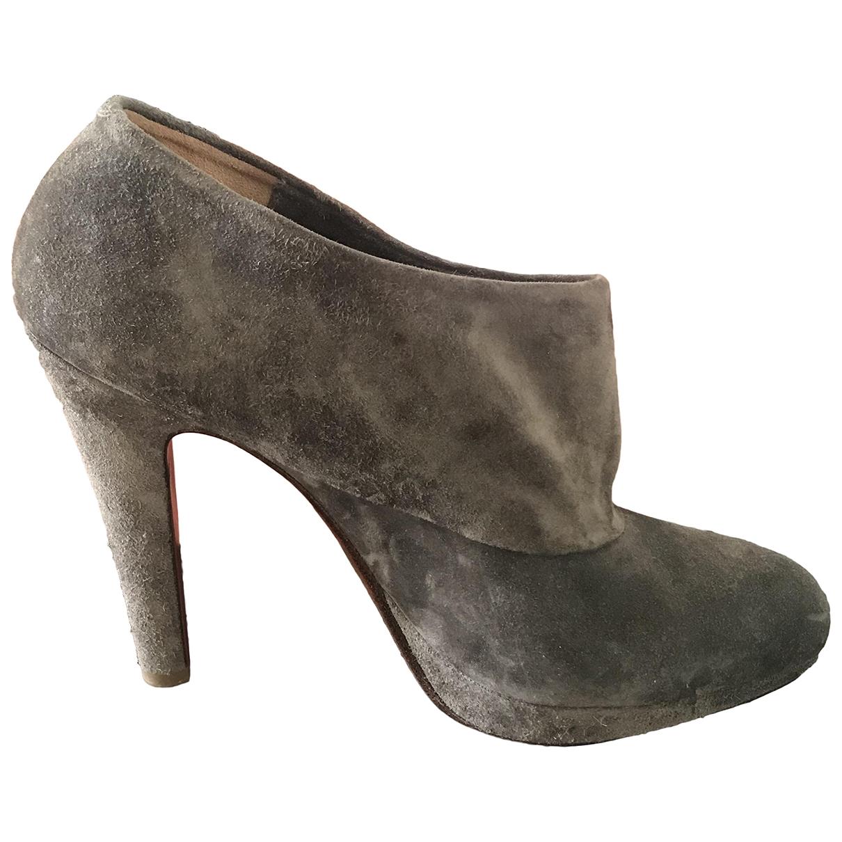 Michel Perry - Boots   pour femme en suede - gris