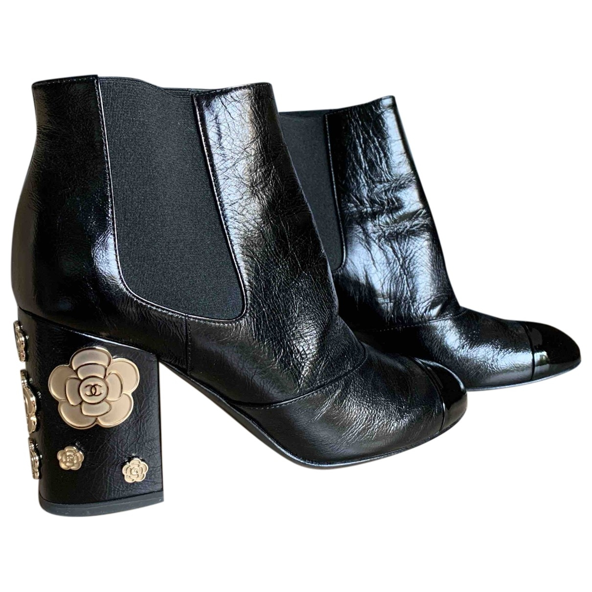 Chanel \N Black Patent leather Ankle boots for Women 37 EU