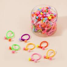 50 piezas goma de pelo de niñitas con flor