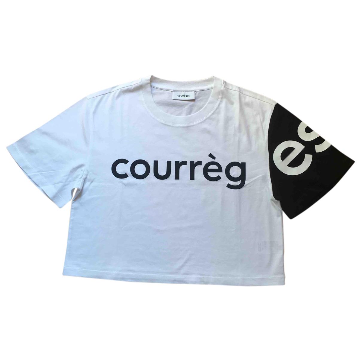 Courreges - Top   pour femme en coton - blanc