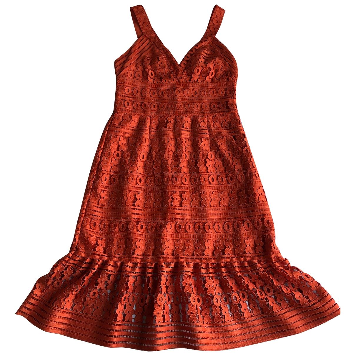 Diane Von Furstenberg - Robe   pour femme en dentelle - orange