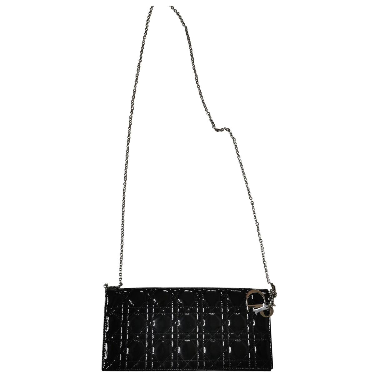 Dior - Sac a main Miss Dior pour femme en cuir verni - noir