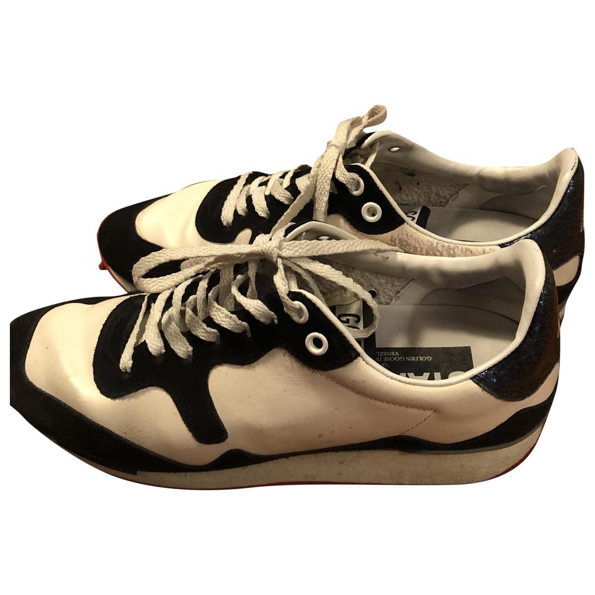 Golden Goose Starland Sneakers in  Beige Leder