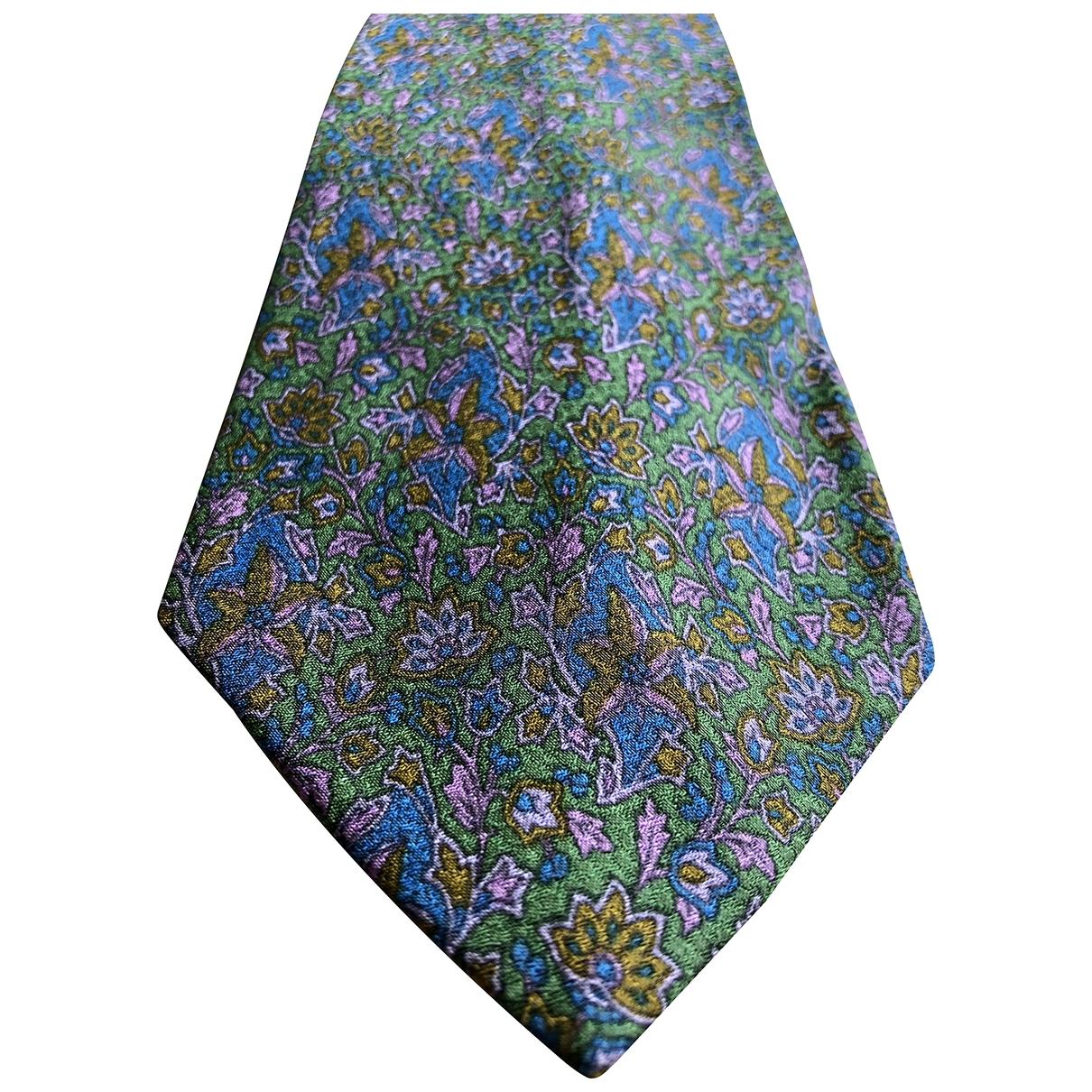 Yves Saint Laurent - Cravates   pour homme en soie - vert
